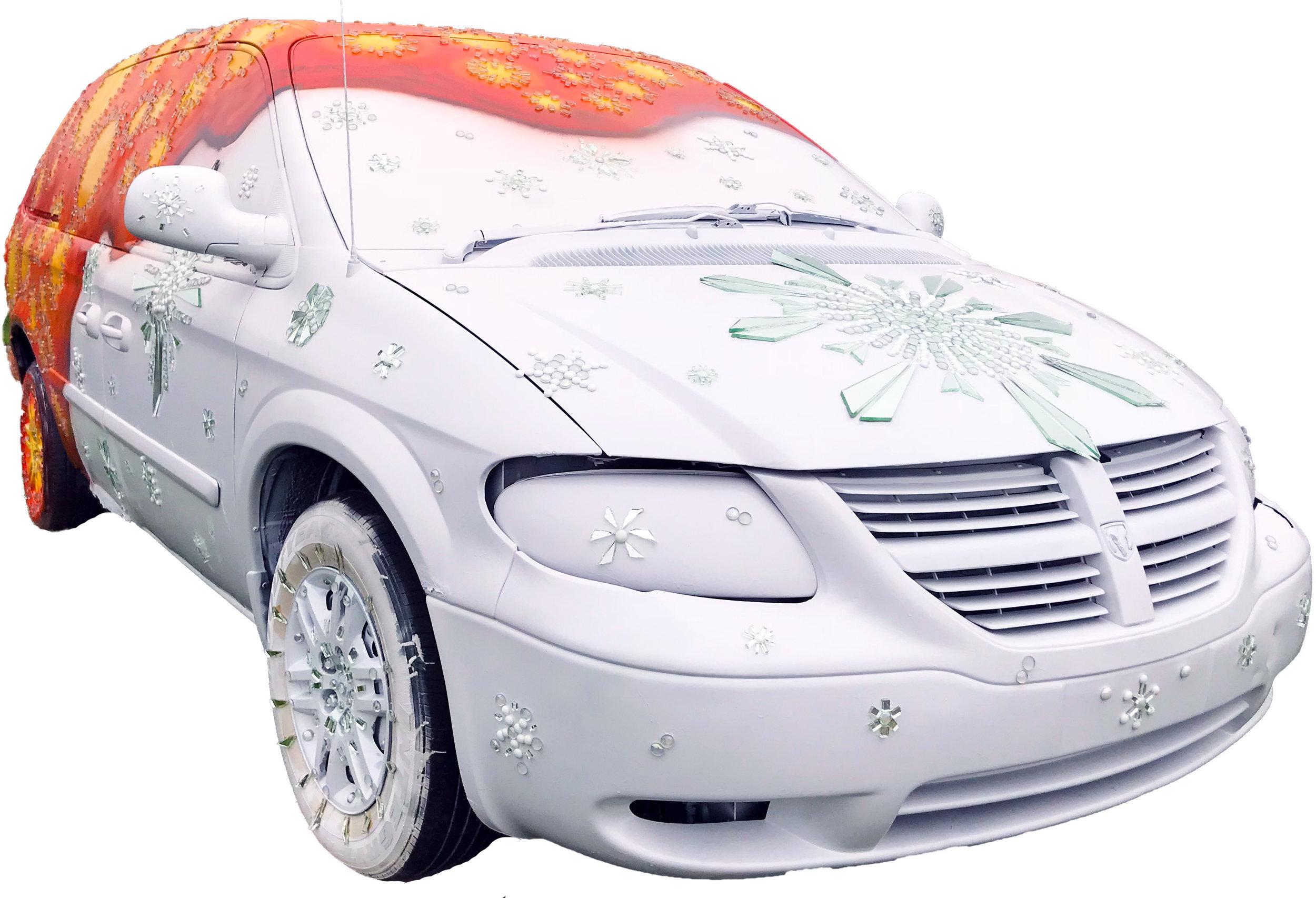 Lava & Ice Art Car