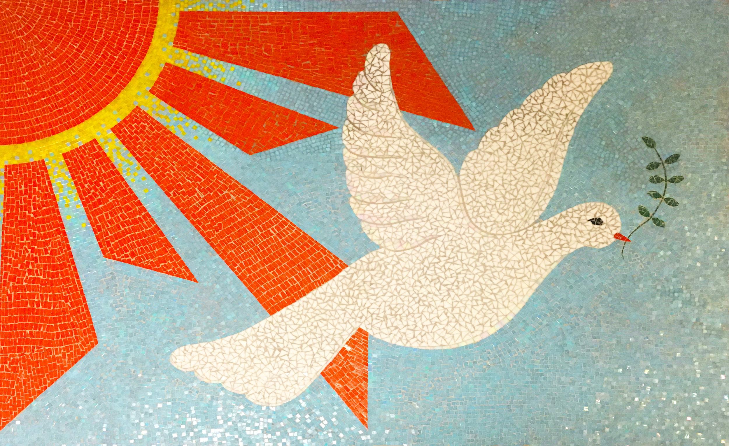 Art Camp Dove Mosaic