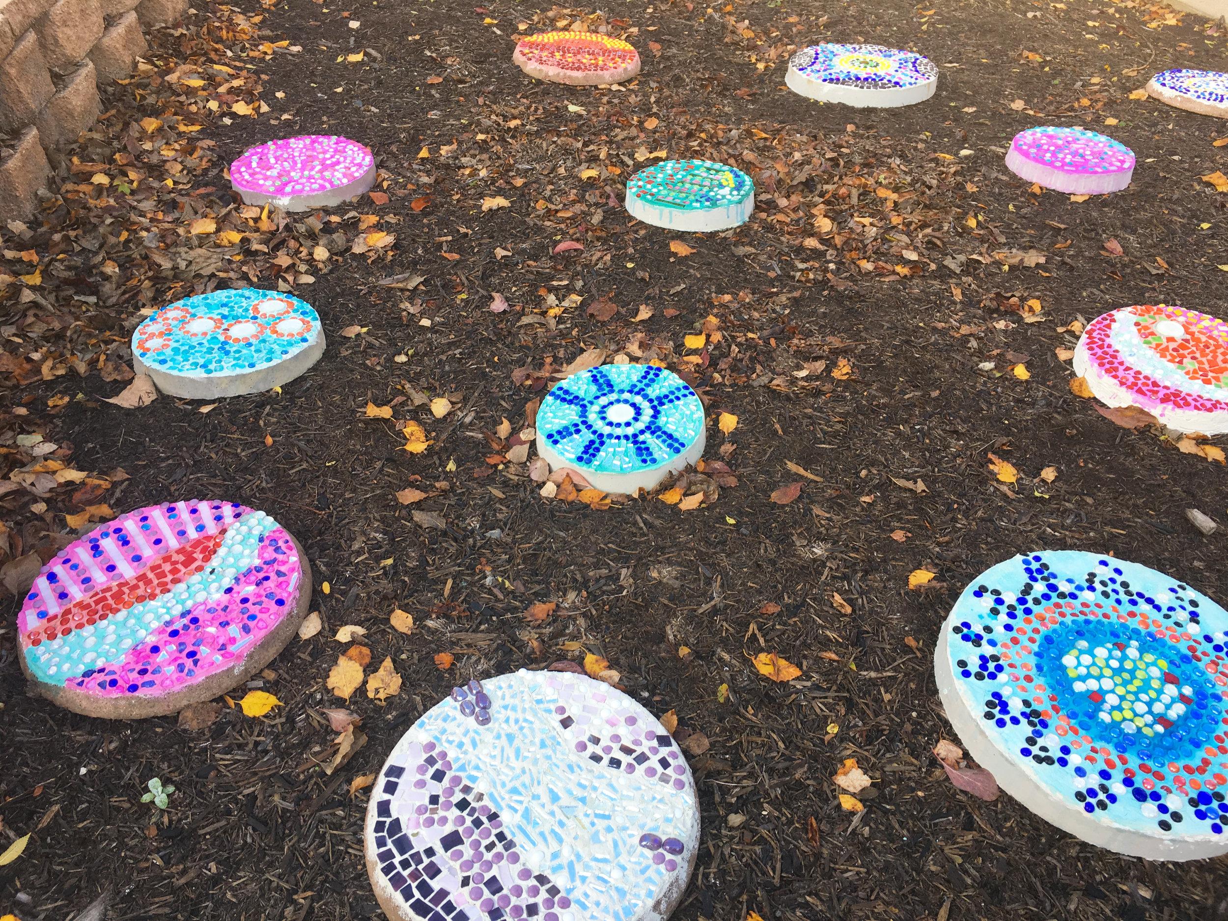 Glenwood Stepping Stone Mosaics