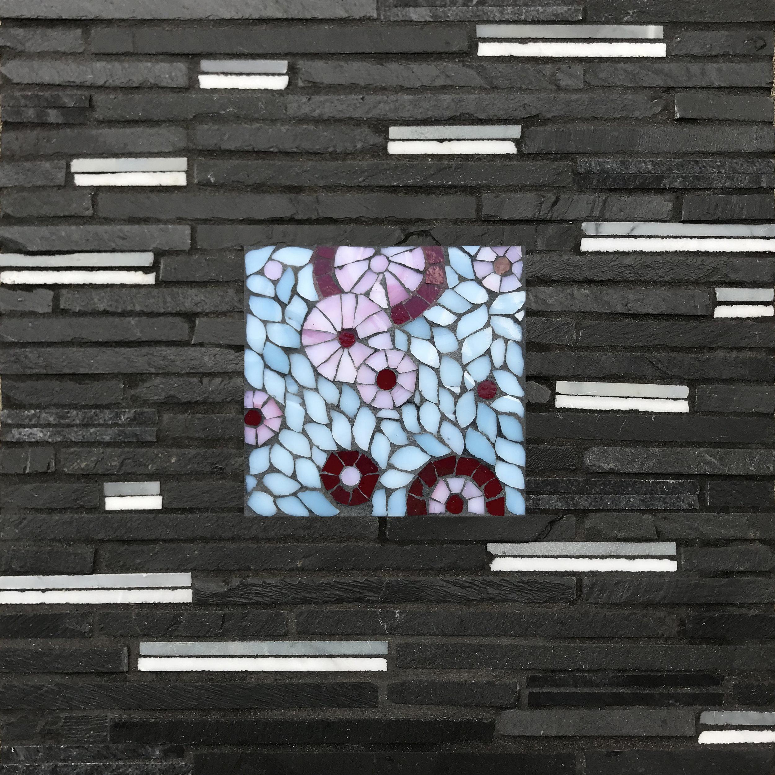 Cherry Blossoms Bubble Mosaic