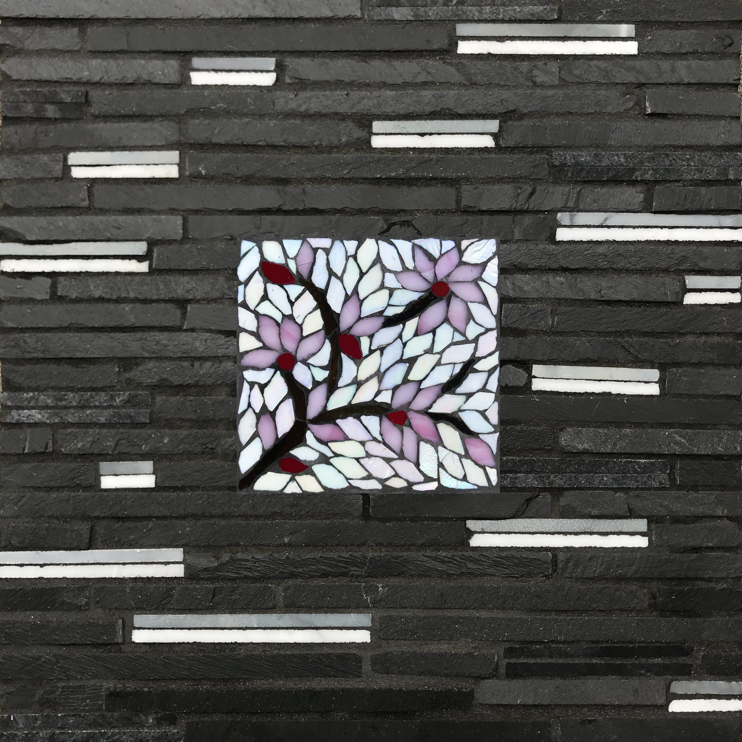 Cherry Blossoms Zen Mosaic