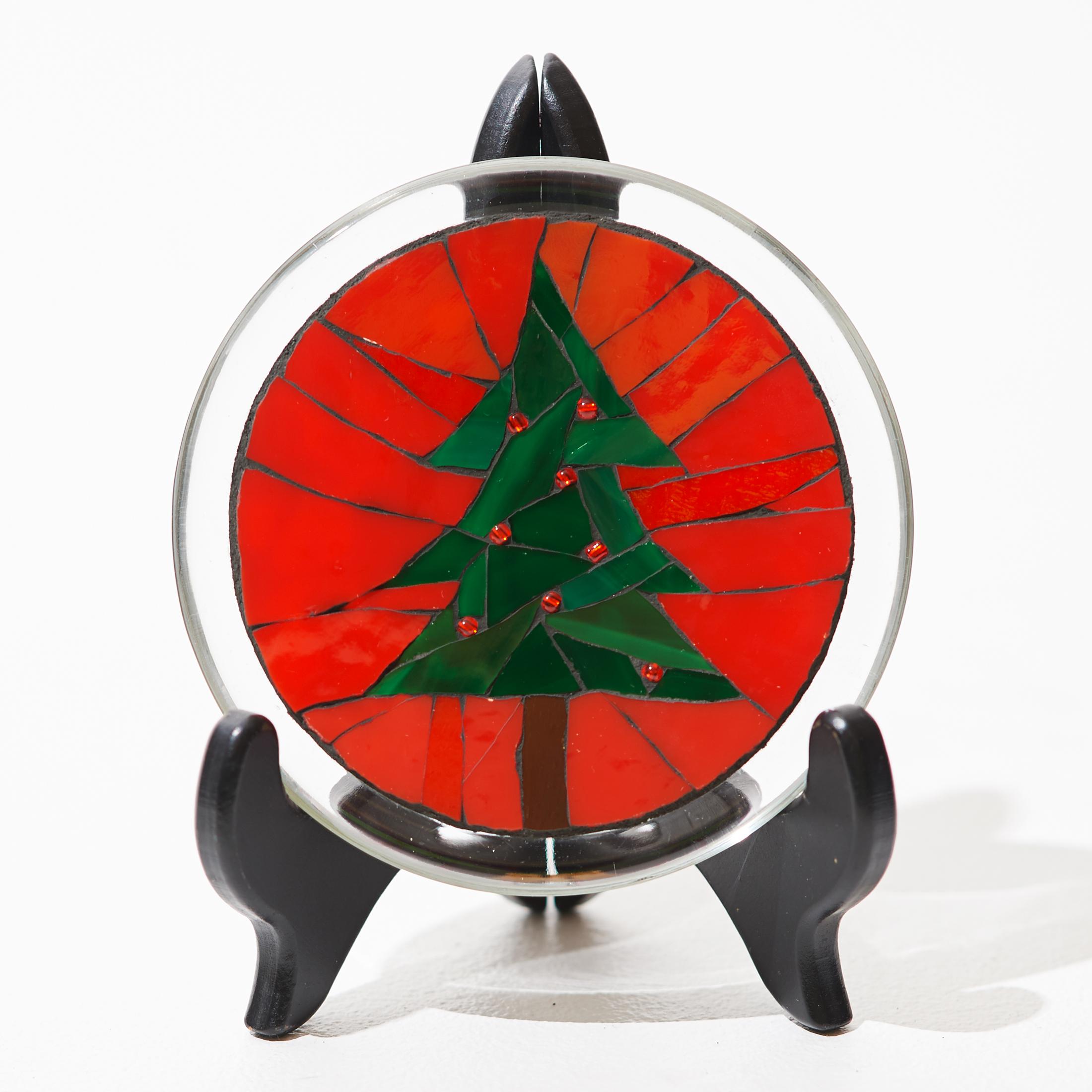 Holiday Tree Mosaic Plate