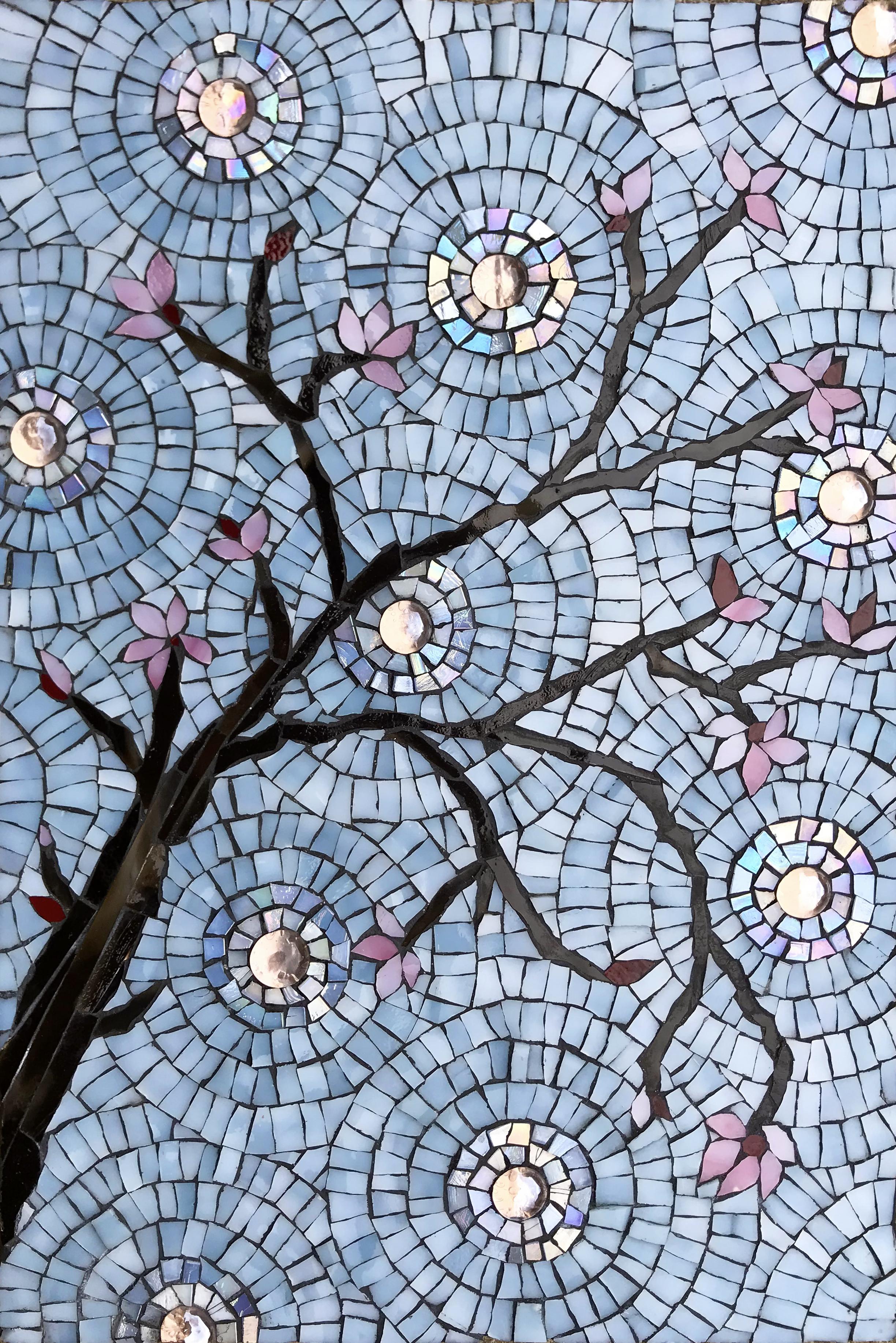 Cherry Blossoms Mosaic Detail 1