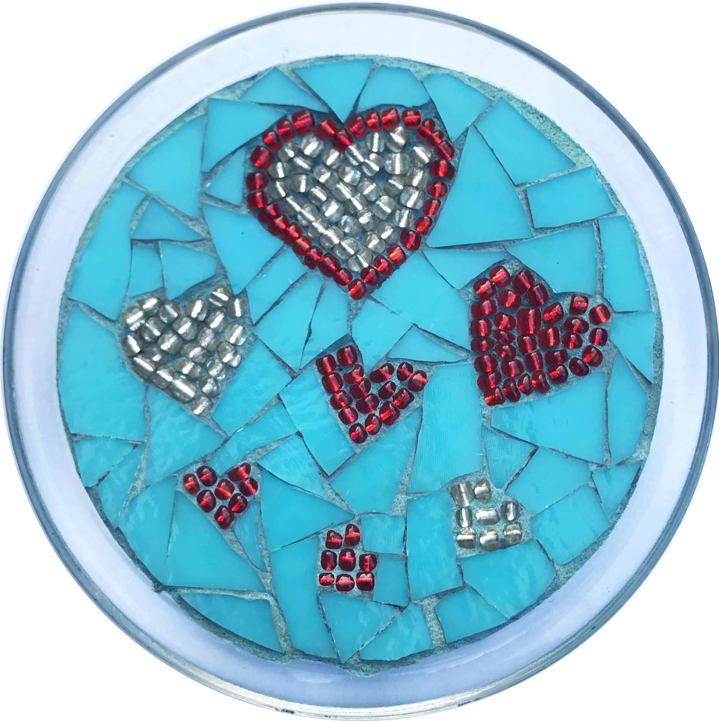 Love Multi-Heart Mosaic Plate