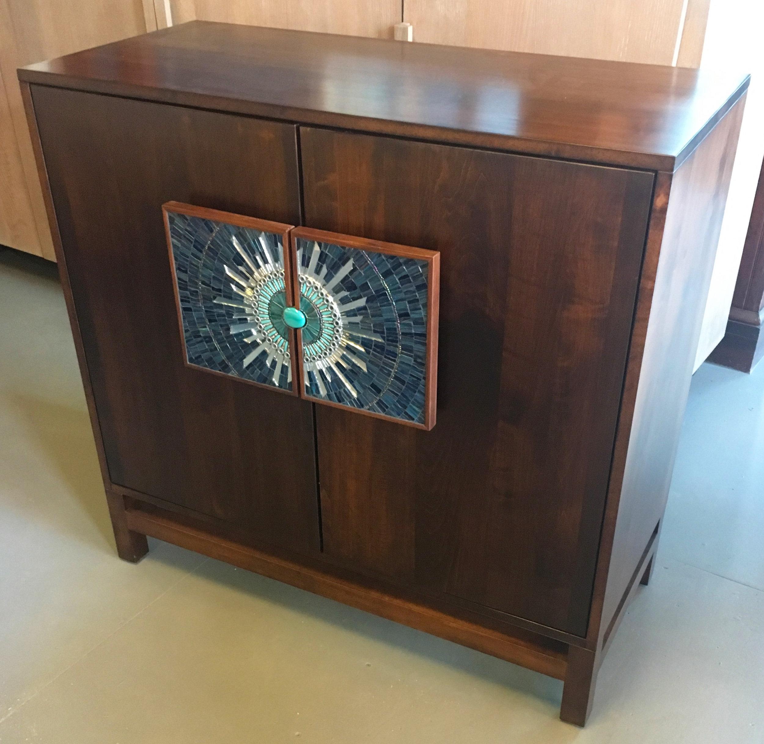 Blue Burst Furniture Handles