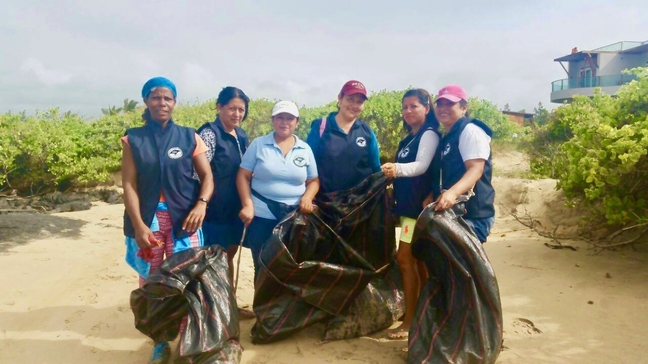 Members of our Sustainable Isabela Program conduct a coastal cleanup.