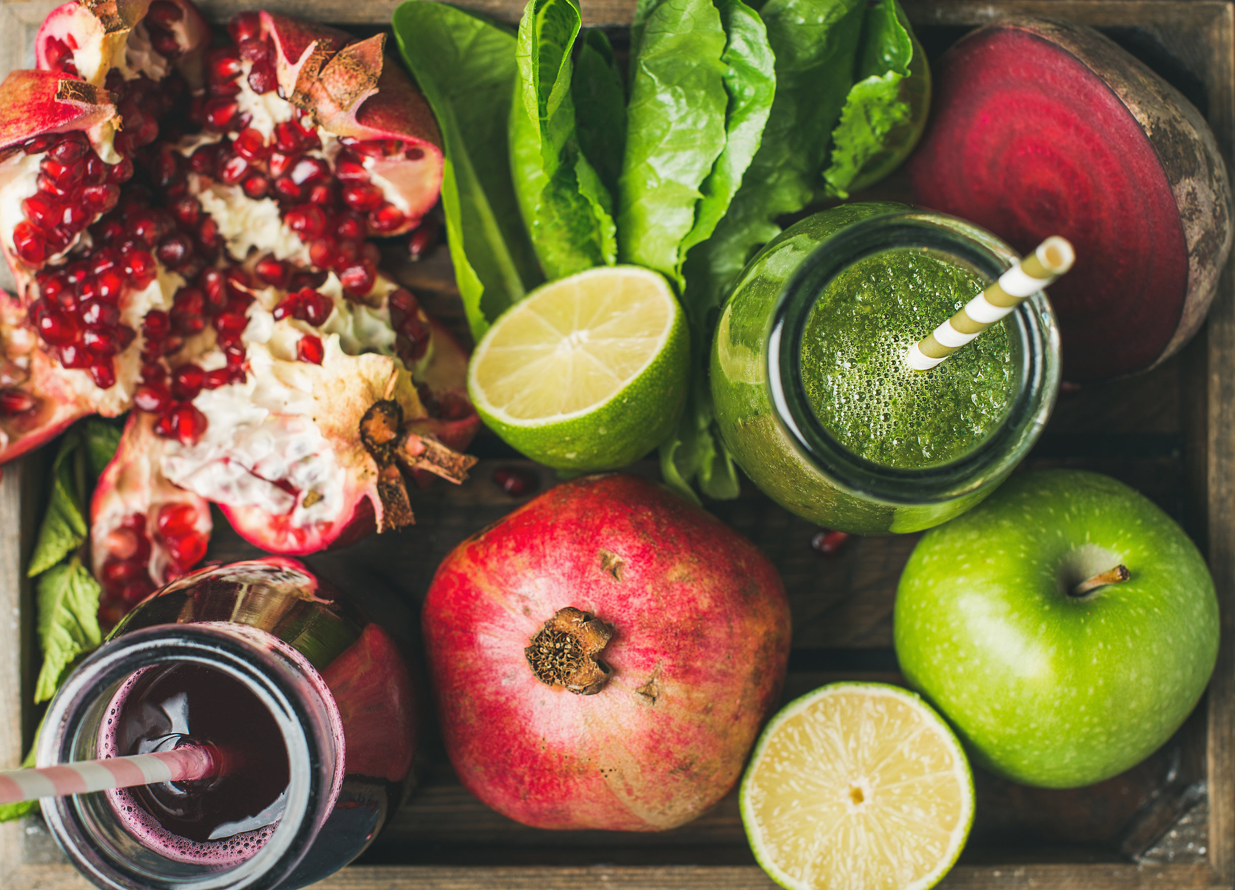 Eat real foods, organically grown, in an abundance of colours and types