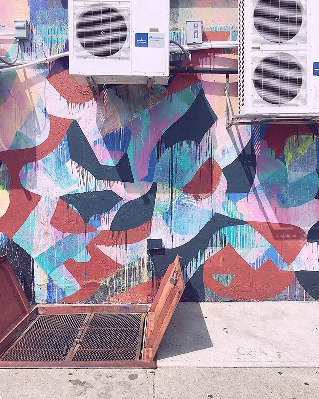 🎛🦄🎛 . . . . #bushwick #williamsburg #greenpoint #mccarrenpark #mccarrenpool #ac #airconditioning #bodega #nyc #ny #brooklyn #streetart #graffitiart #graffiti #mural #streetmural #localart #summer #summerinthecity #bk #vacation #pool #poolside #august