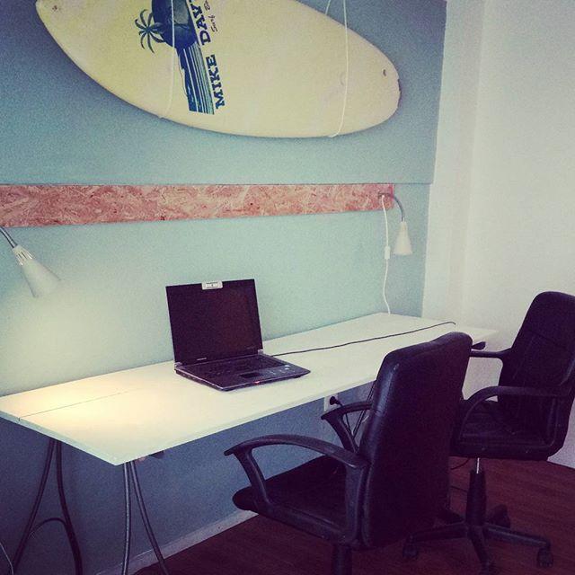 New office room! #lisbonwaves #workremotely #freelancer #costadacaparica