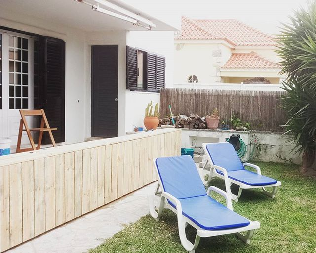 Work in progress - improvements to the exterior area. #lisbonwaves #costadacaparica #enjoythesun