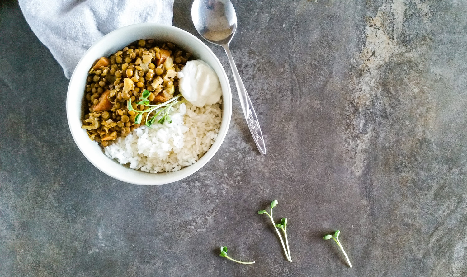 Dahl and rice