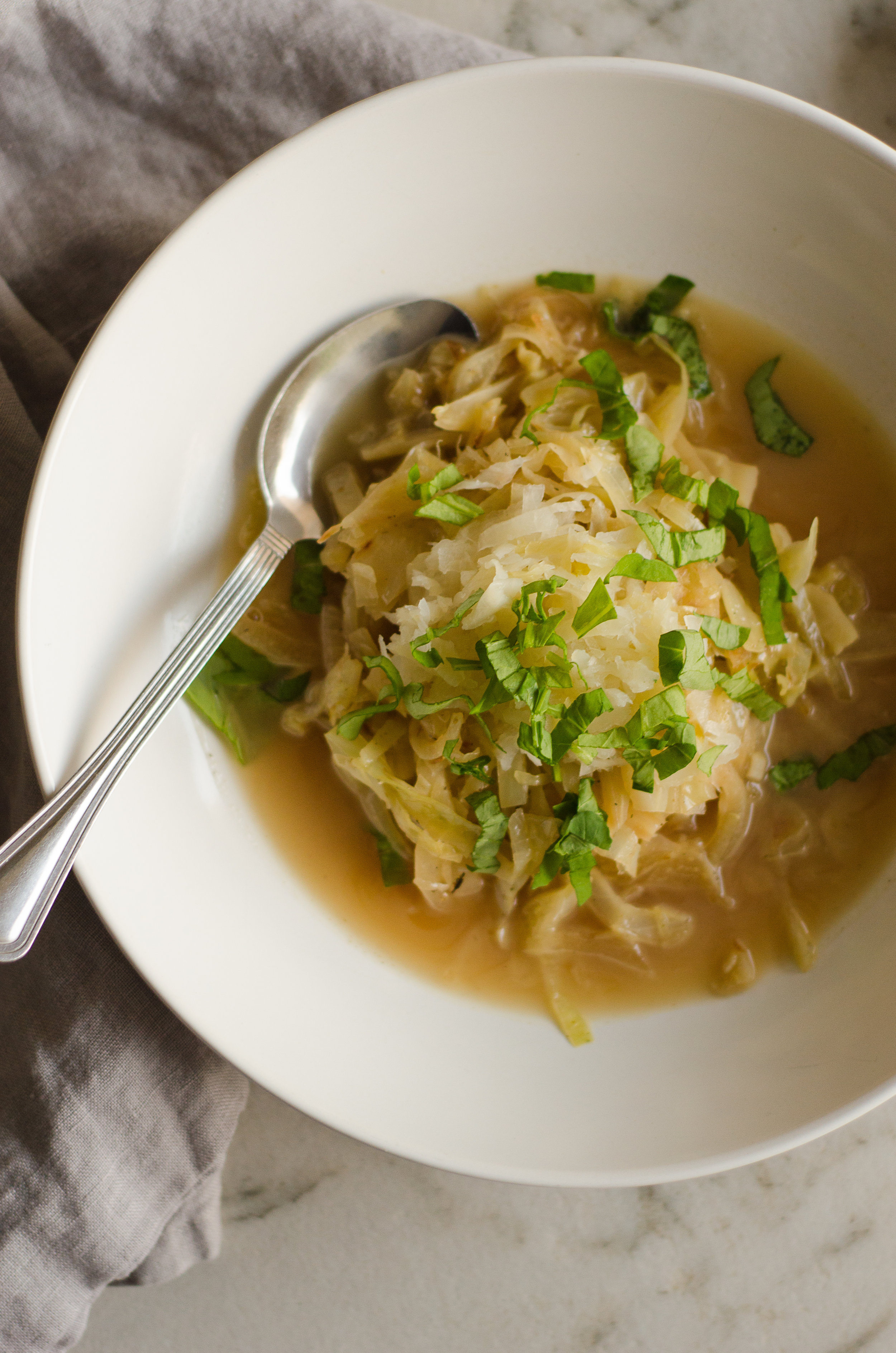 cabbage and onion soup a simple seasonal dinner