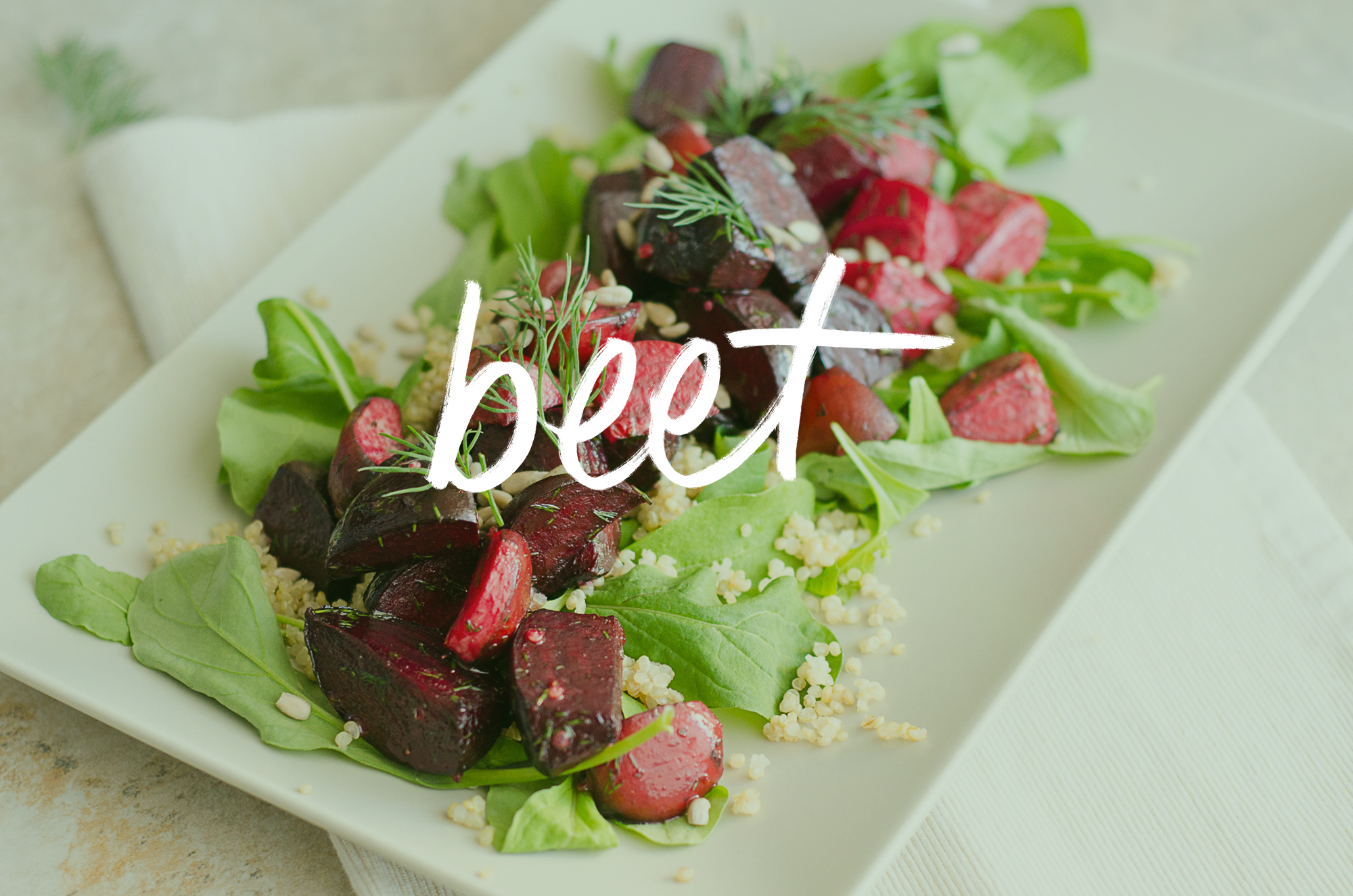 Beet, quinoa and dill summer salad with apple cider vinegar dressing - The Nomadic Wife