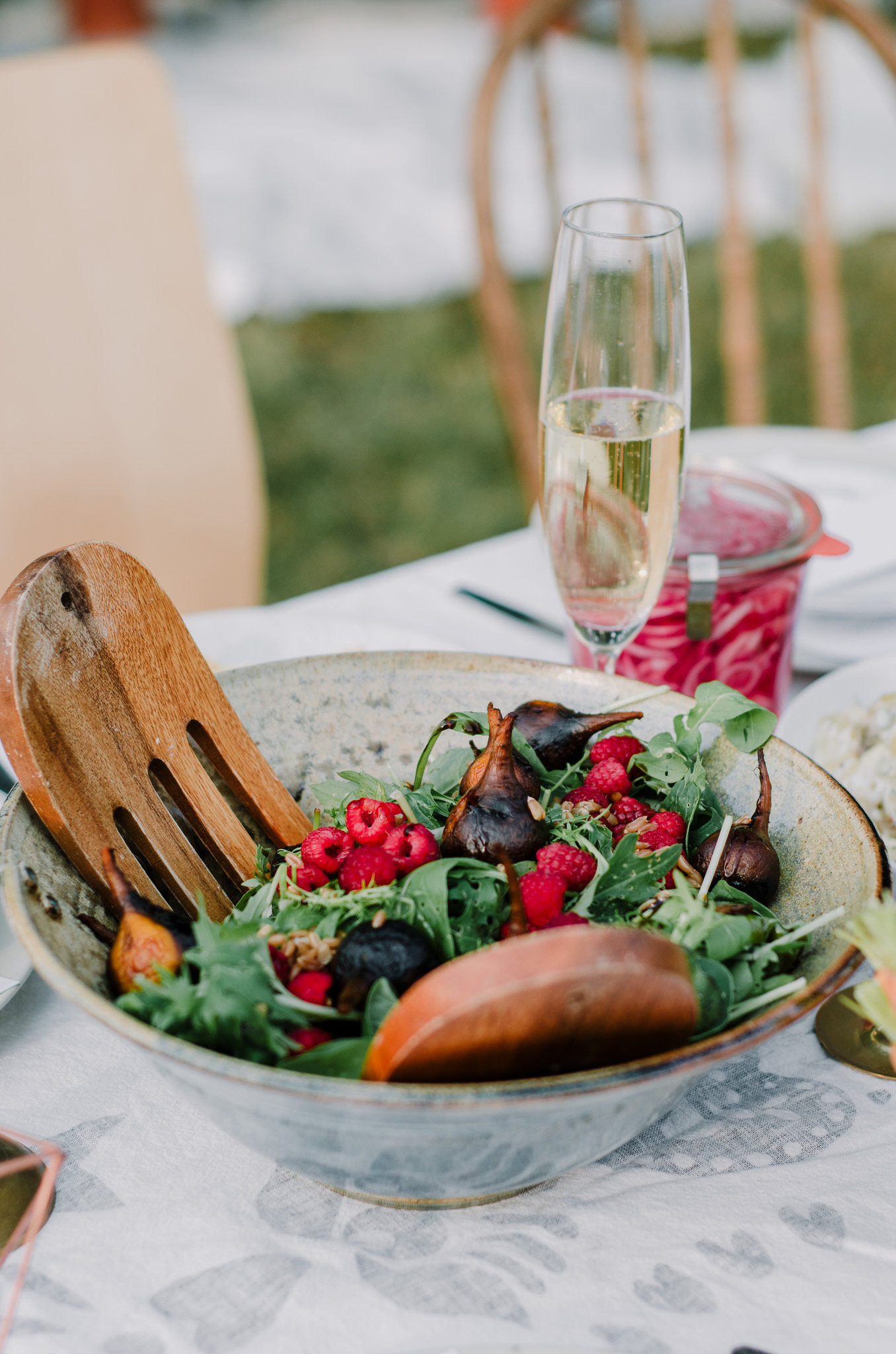 Roasted beet & raspberry summer salad by The Nomadic Wife