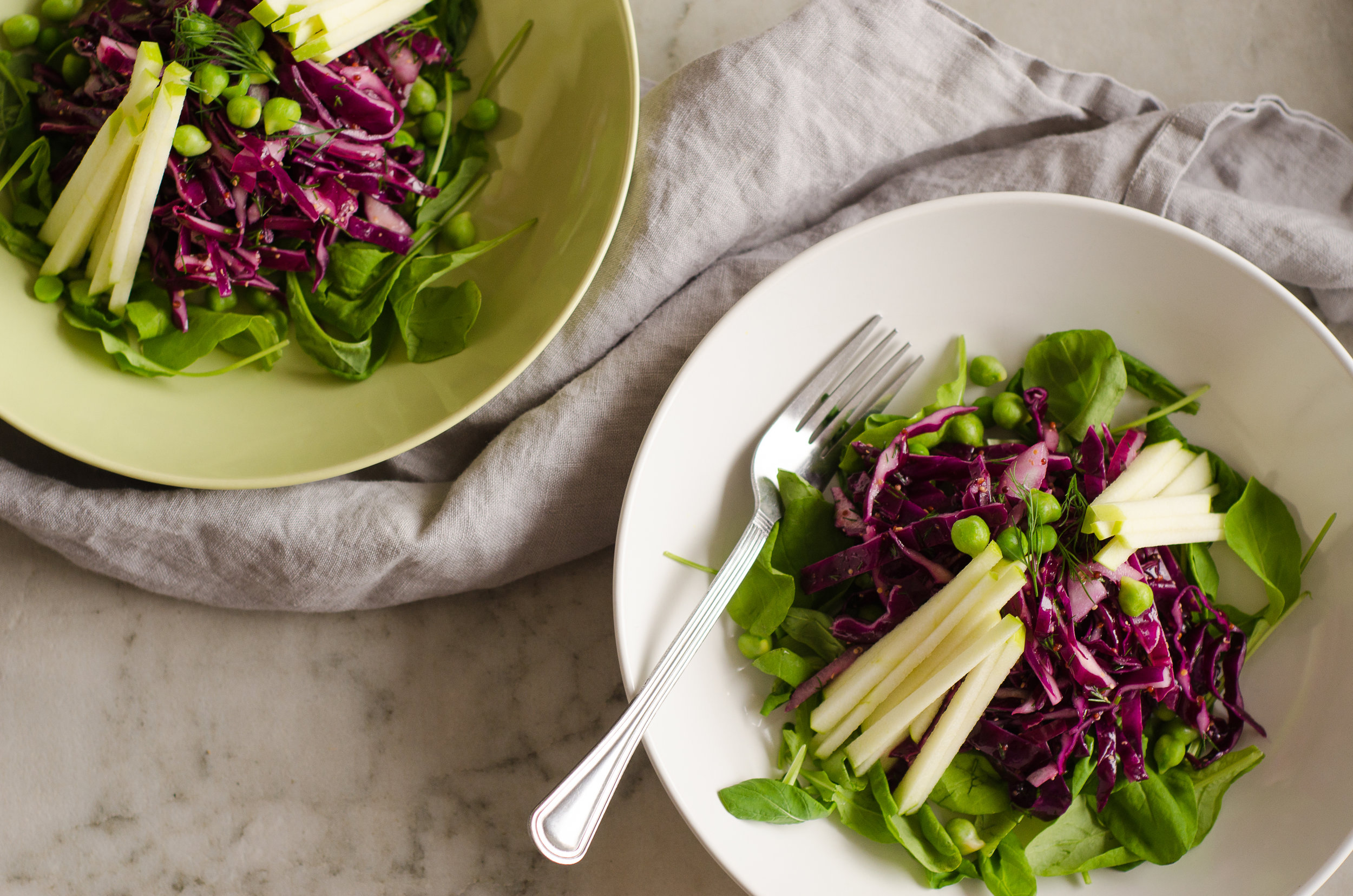 Green Apple, Cabbage & Chickpea Salad by The Nomadic Wife