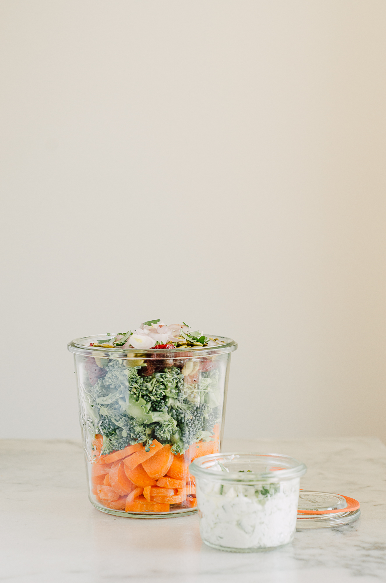 easy lunch salad recipe with a creamy yogurt dressing - the nomadic wife