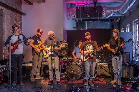 Quincy Band performs a Labor Day show at The Chalet at MASS MoCA September 2017  Photo by Mark Girouard