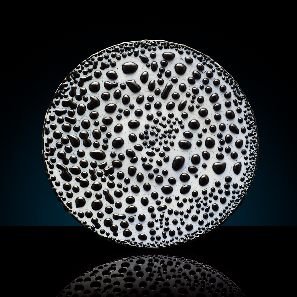BLACK RAIN | stoneware plate - sold