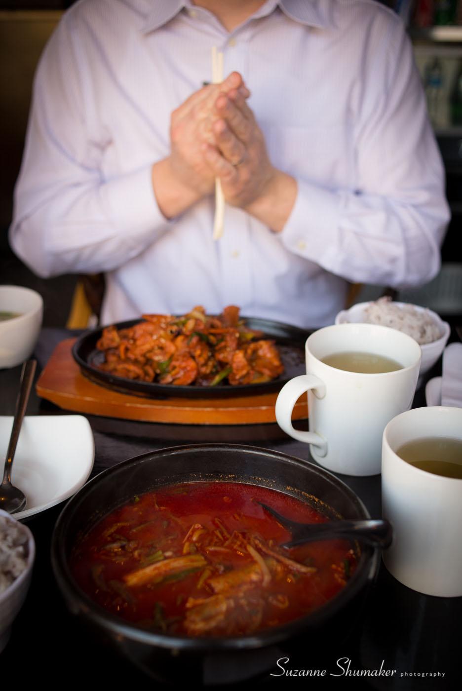 My hot lunch date #yukgaejangsoup