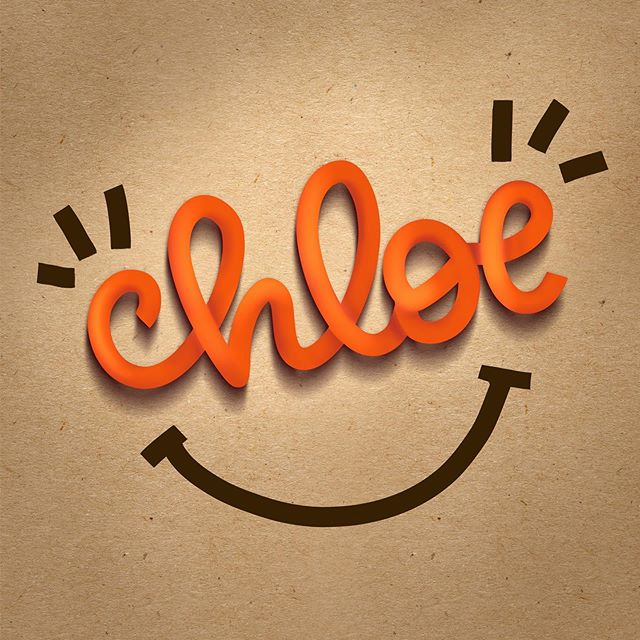 I know a cute little girl with this name. #chloe #ipadprocreatelettering #procreatelettering #handlettering #letteringpractice #letteringbeginner #cutelettering