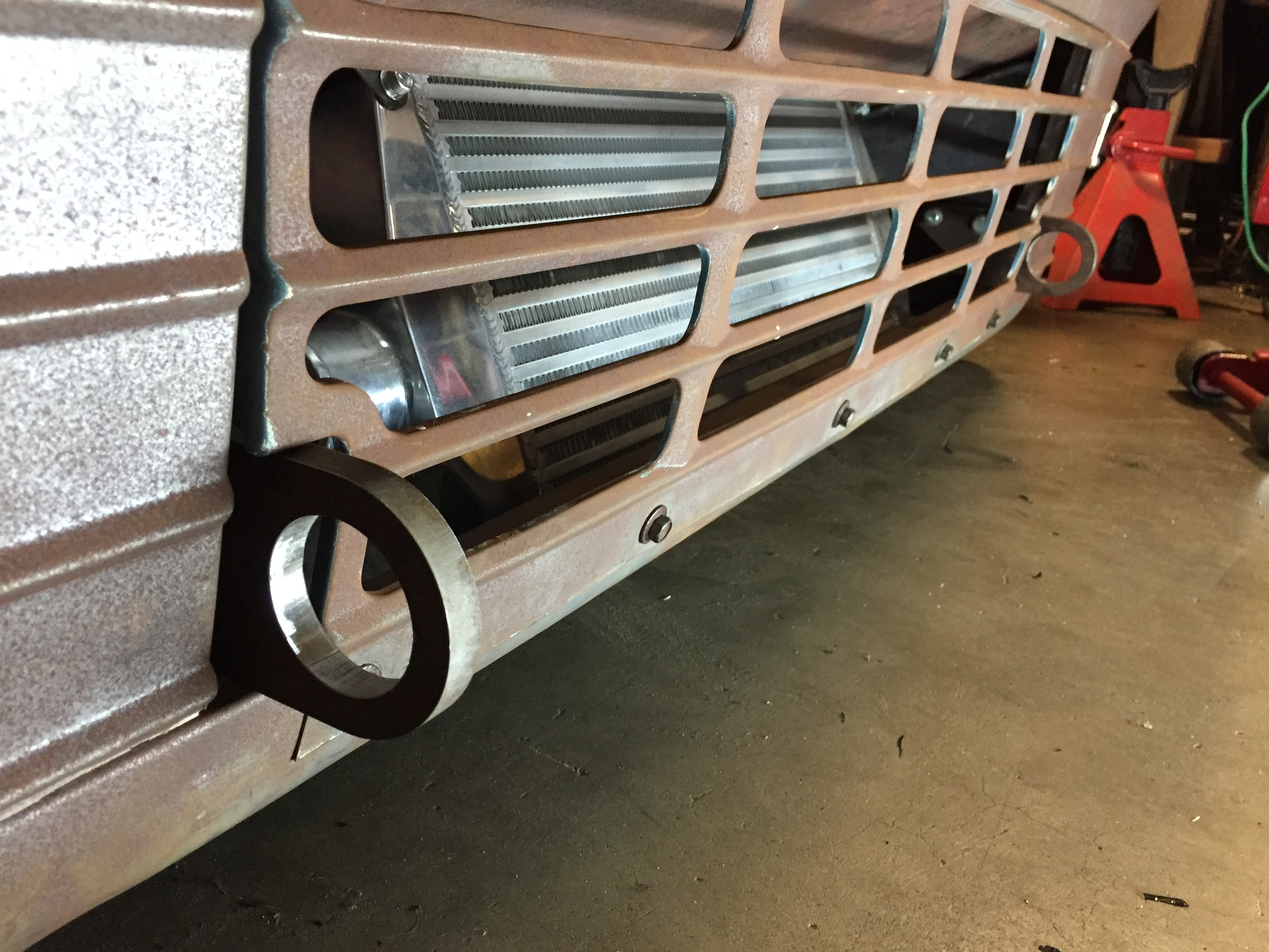 """Most recently I finished off the front and rear tow hooks. 1/2"""" waterjet cut steel"""