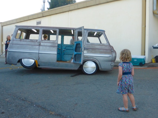 The van proved to be a hit with the little ones that attended. They spent the evening running around and swinging off the rollcage. Despite acquiring a shade of orange from rust, there were luckily no bumps,scrapes, or tears!