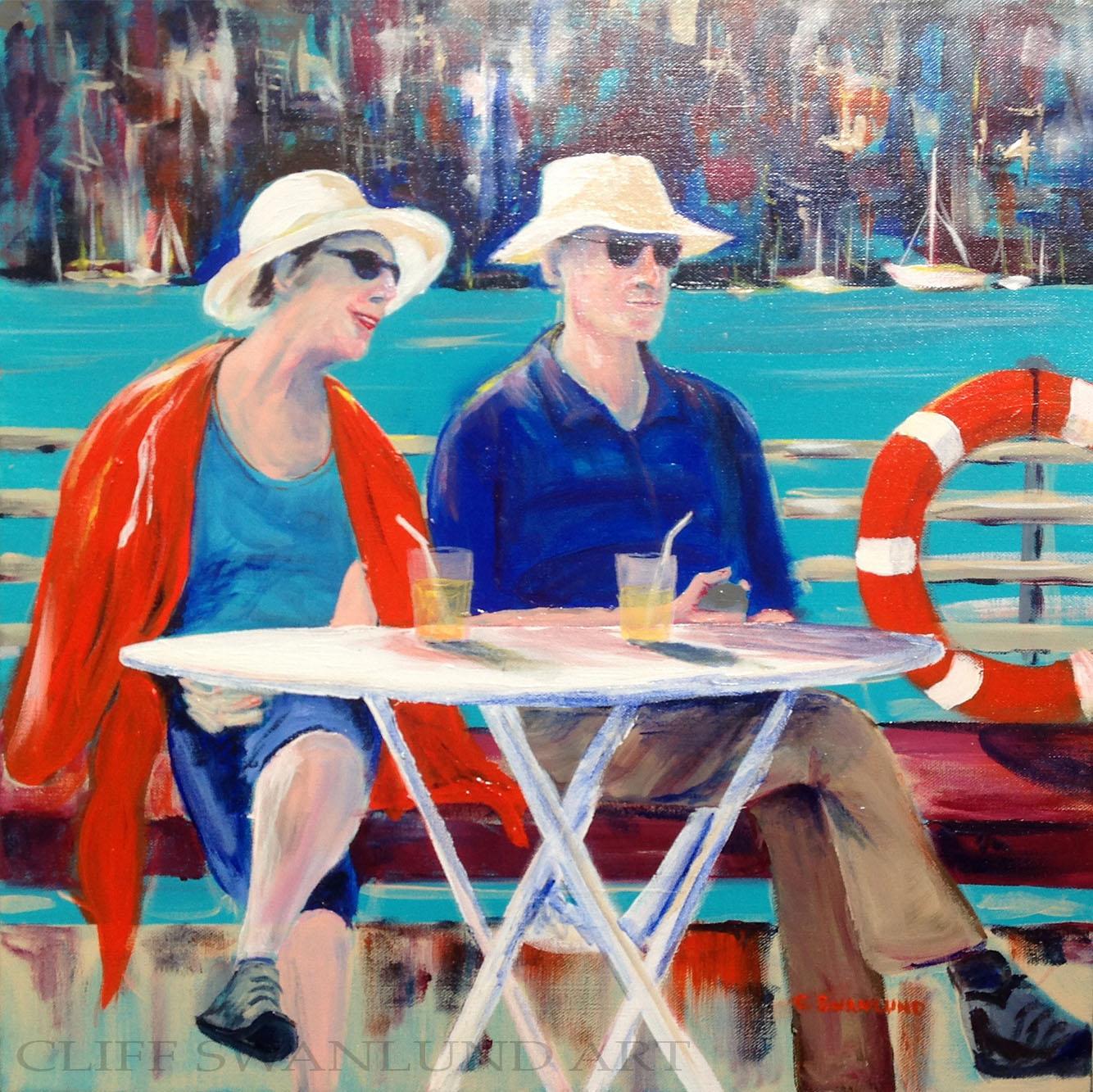 "sold-""Lemonade on the Bosphorus"" - 20"" x 20"" on canvas unframed"