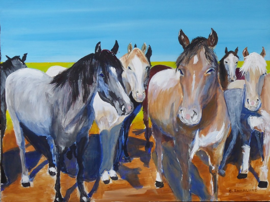 """sold- """"Roadside Greeting""""- 18 by 24"""