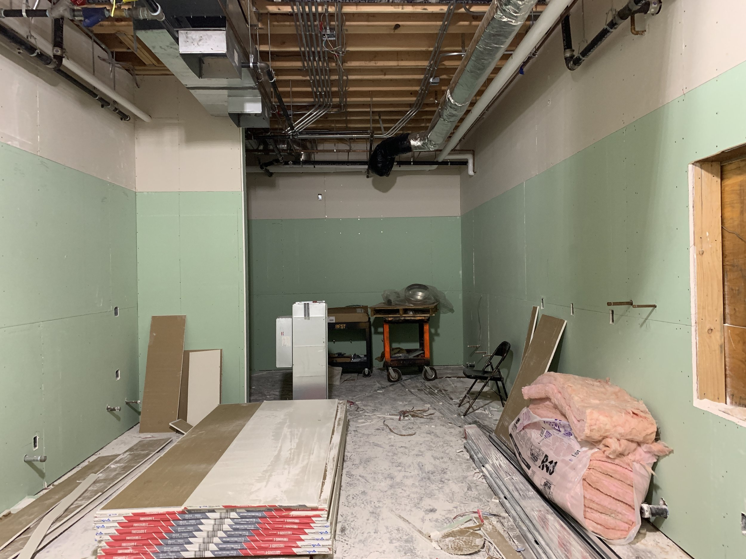 2-27-2019 Kitchen drywall is up
