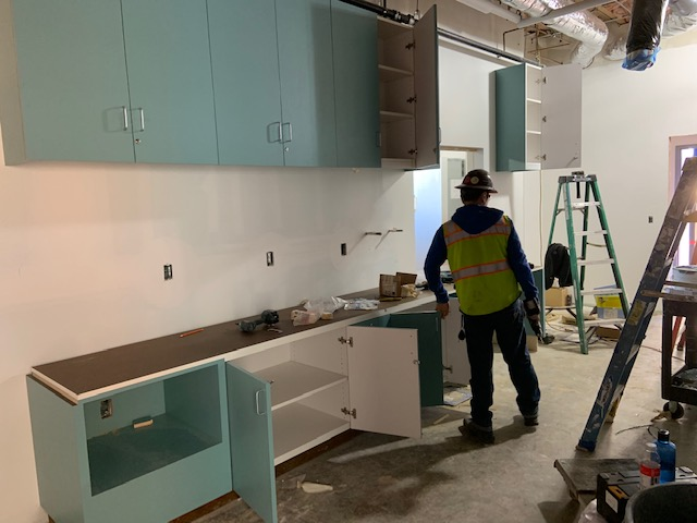 3-13-2019 New cabinets going in