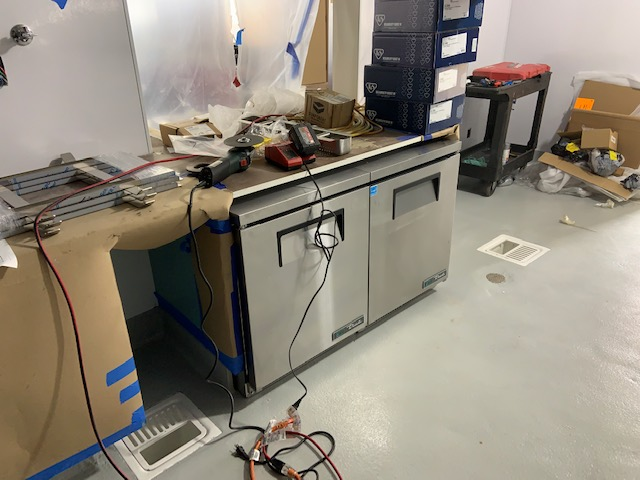 4-02-2019 New kitchen equipment going into place