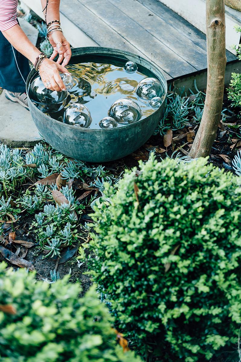 Outdoor garden sculpture -