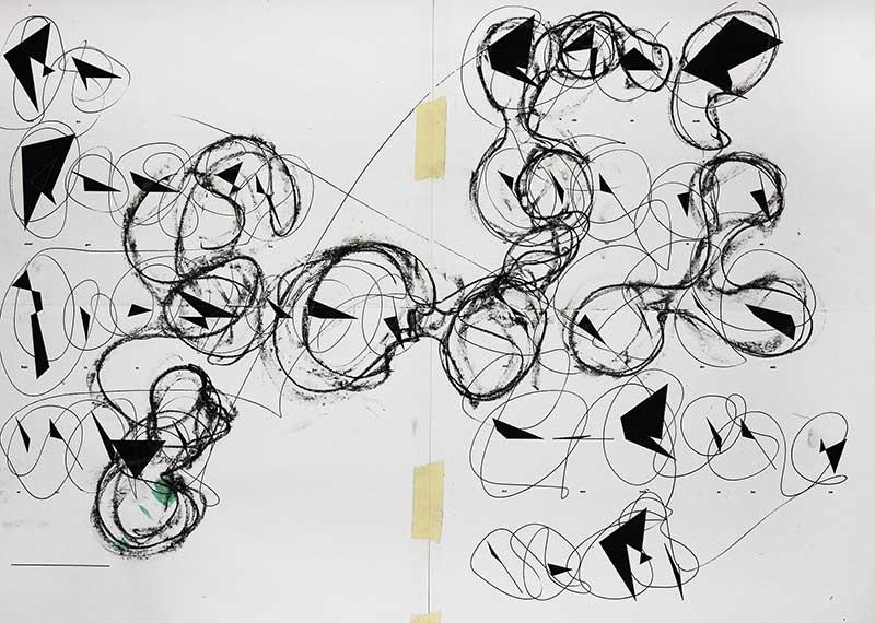 "Poem (by Garcia Lorca), ""Rechenschaft"", 2017, Tomaso Carnetto"