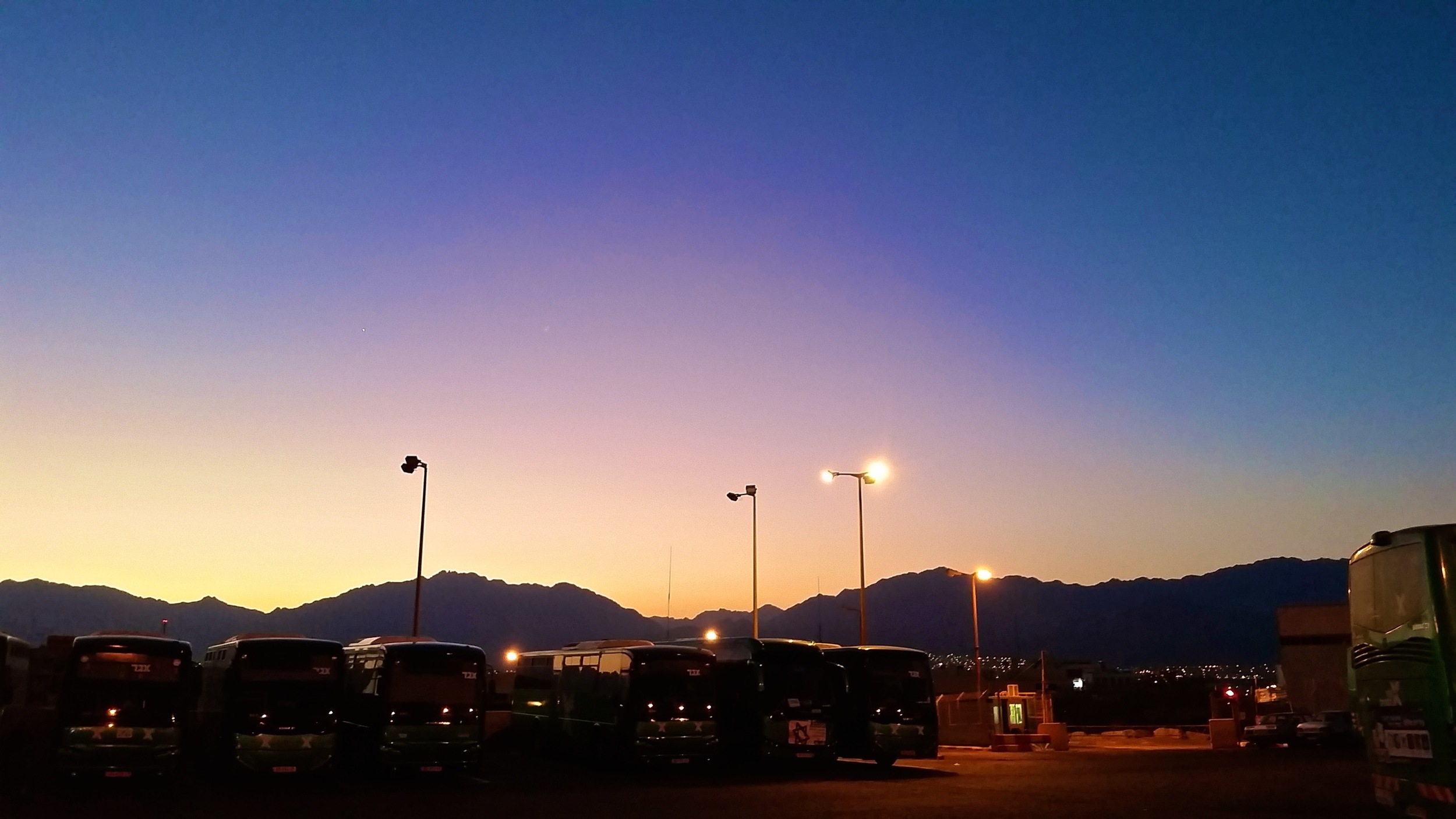 Eilat Central Bus Station, 5:00am
