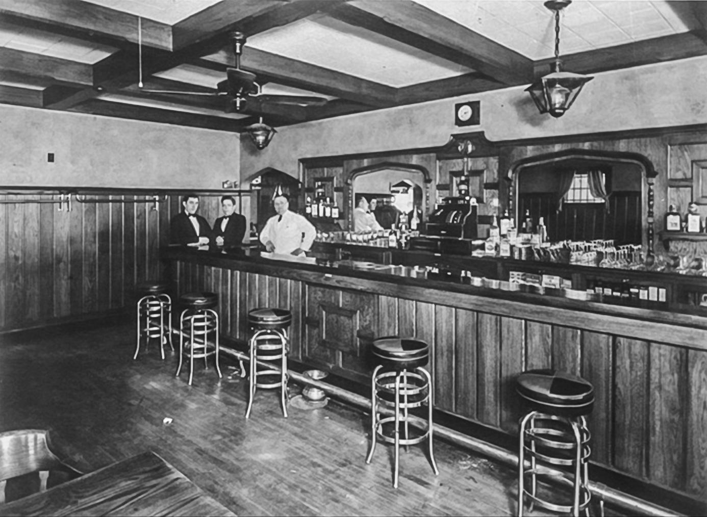 """John Kegel open for business in his """"soda pop parlor."""""""