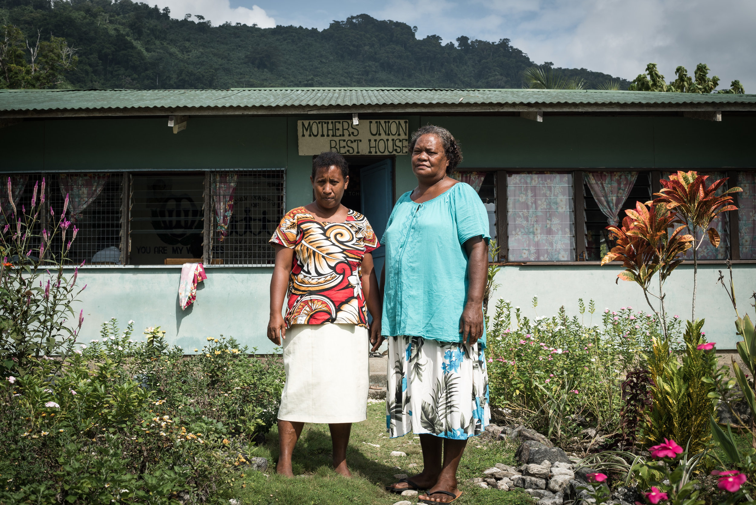The mothers of Isabel have united to protect their land and the sea. Moira Dasipio (right), President, Mothers Union, Isabel Province, Solomon Islands.