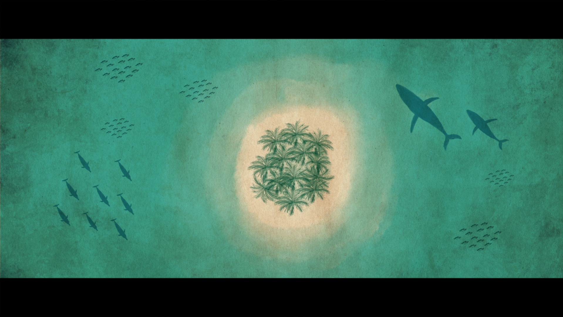 Hand painted artwork by illustrator/animator Anna Outridge for The Map to Paradise (film).