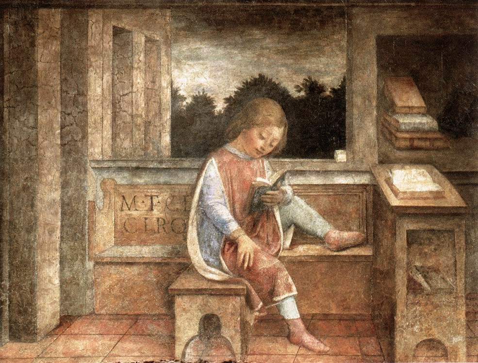 The Young Cicero Reading,  by Vincenzo Foppa