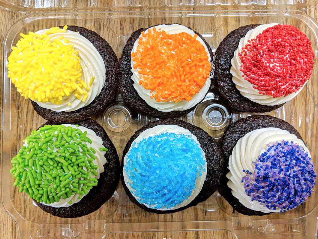 Rainbow Pride Cupcakes