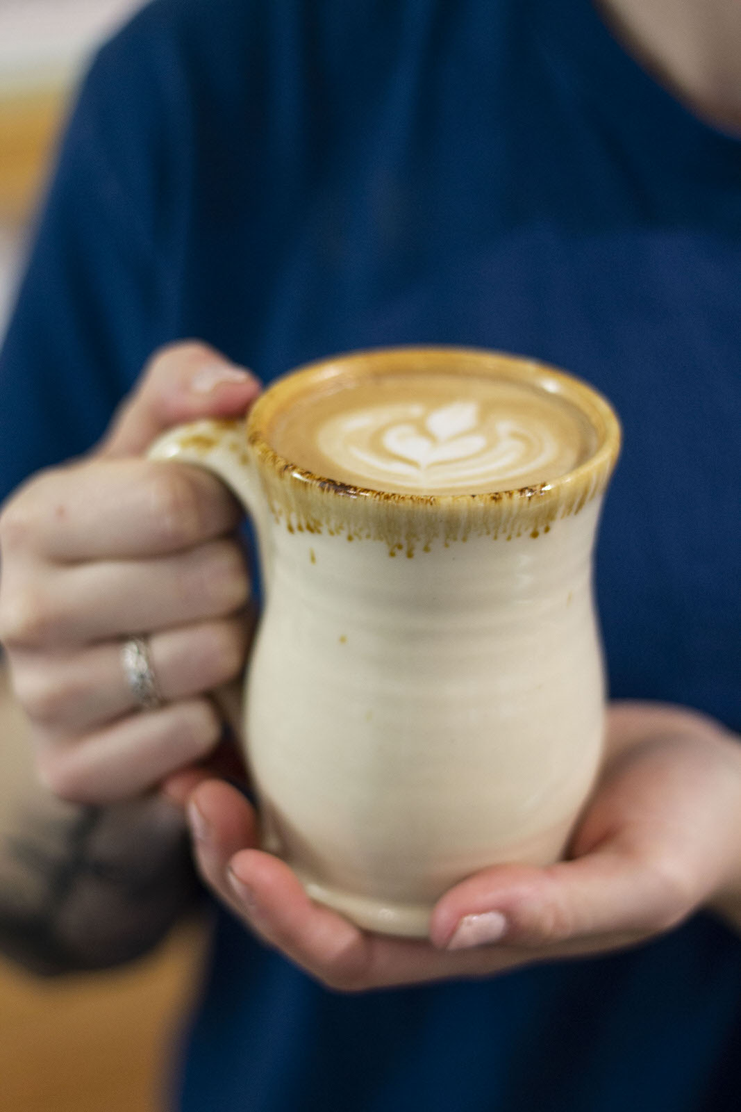 At Atwater's, our coffee is served in locally handmade mugs.