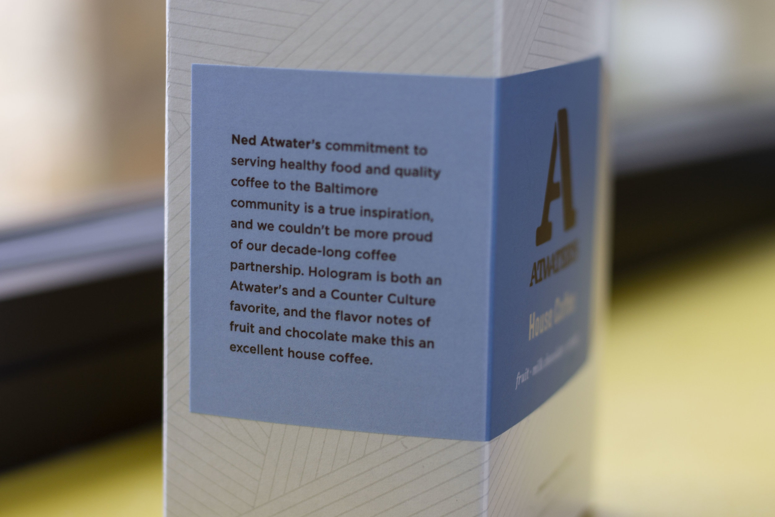 We are committed to and proud of our coffee partnership with Counter Culture.