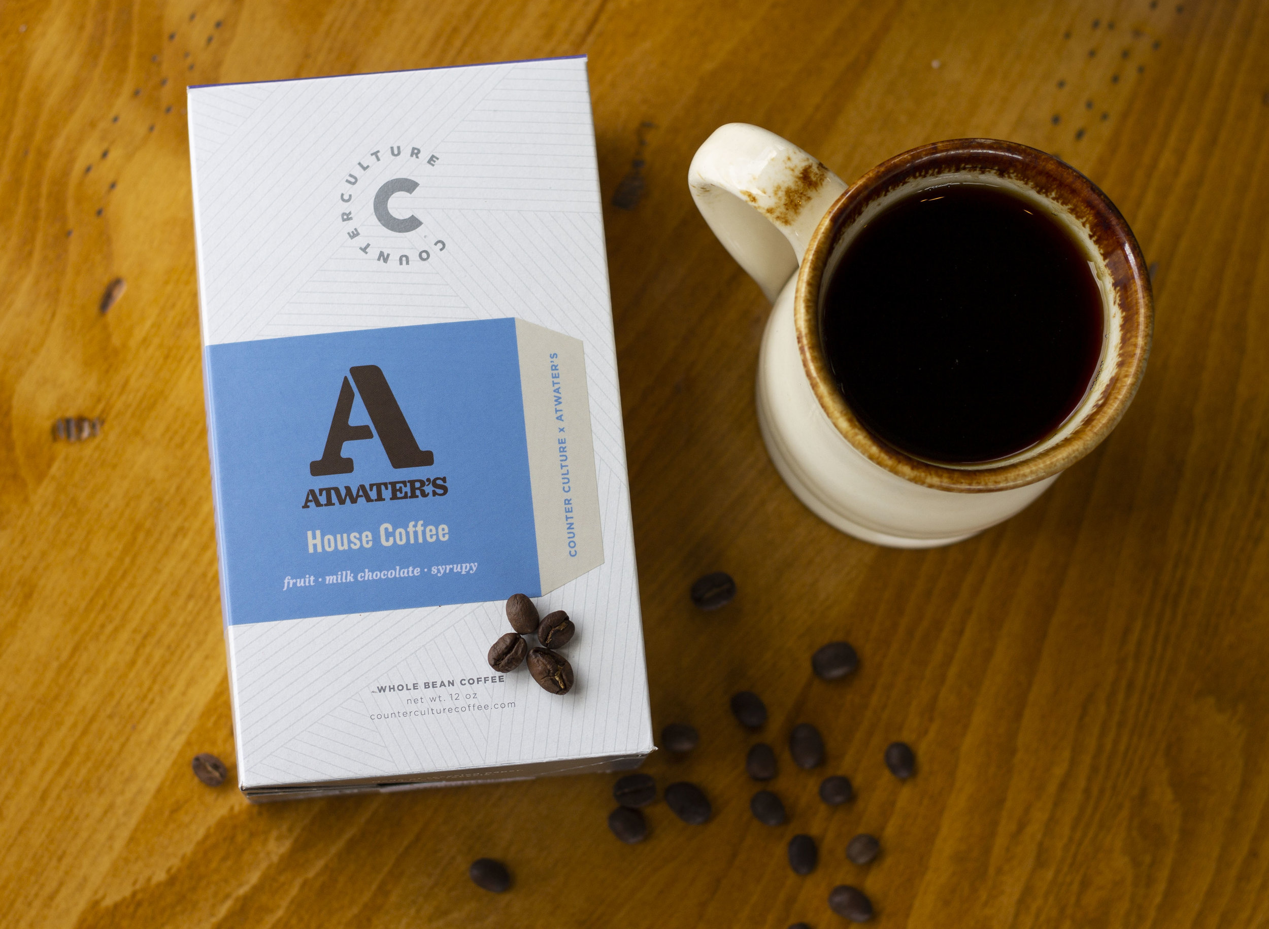 Atwater's House Coffee is the Counter Culture Hologram blend.