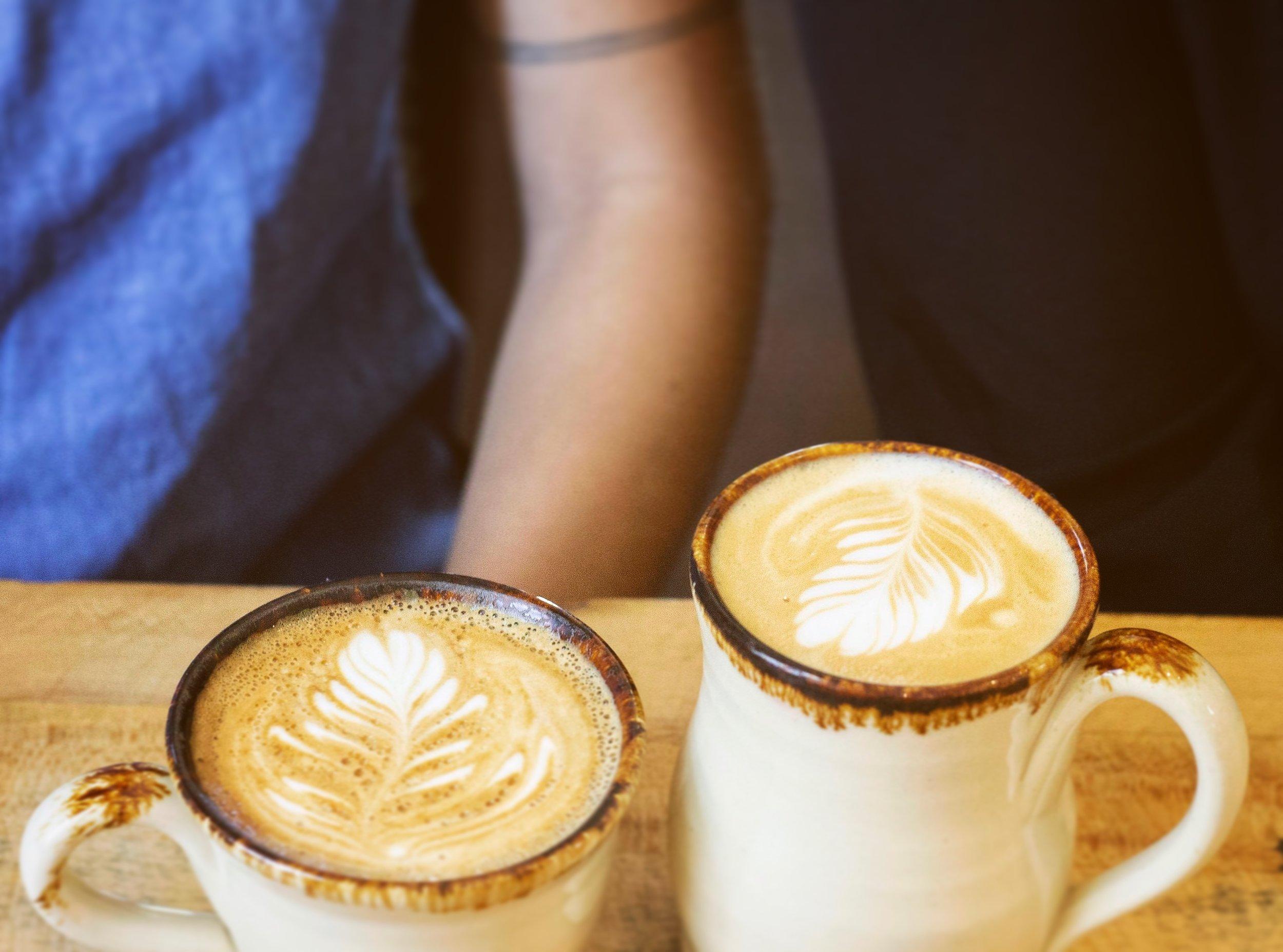 Handmade Delicious Latte Art and Handmade Mug