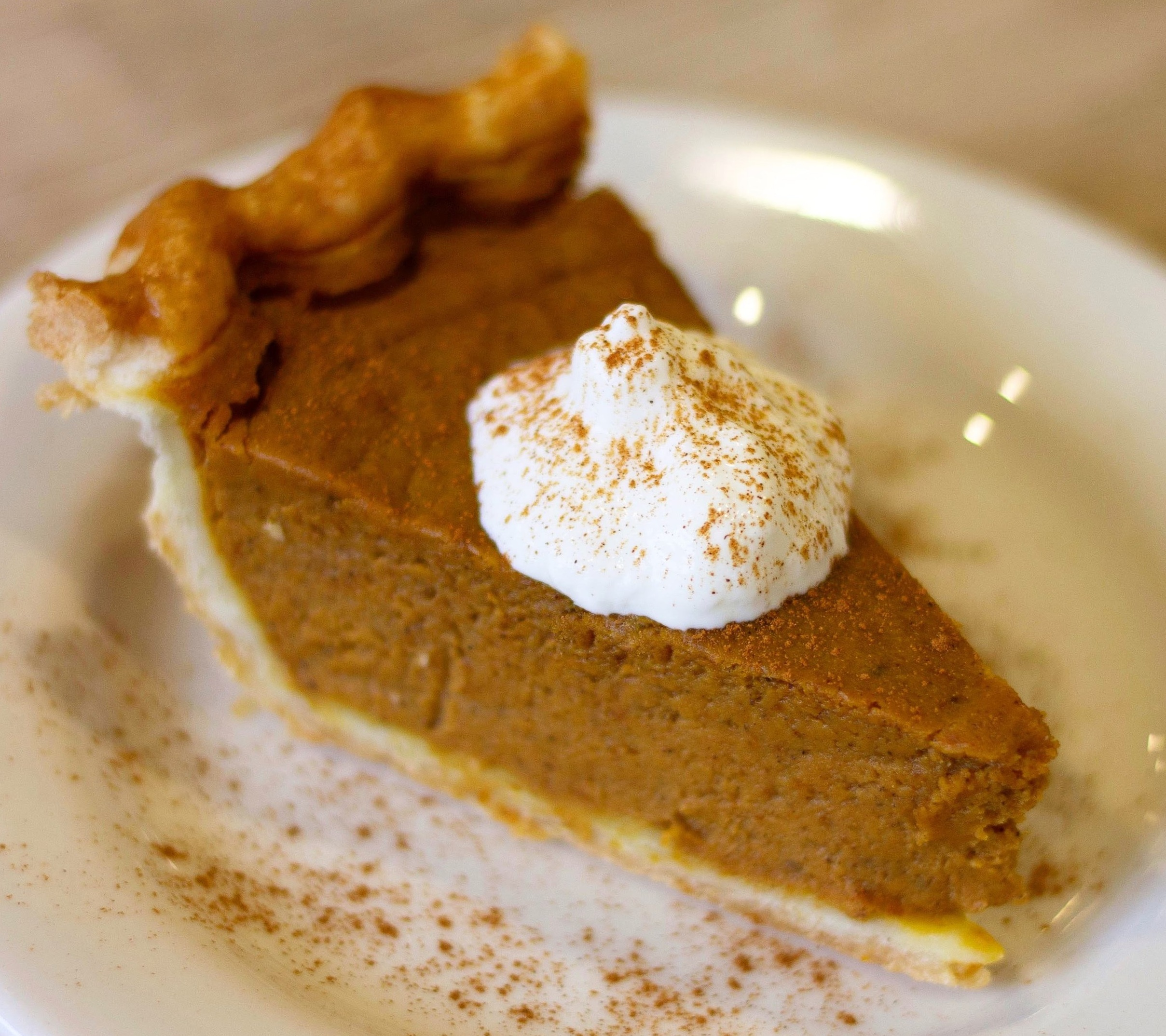Pumpkin with a Dollop of Whipped Cream and Cinnamon