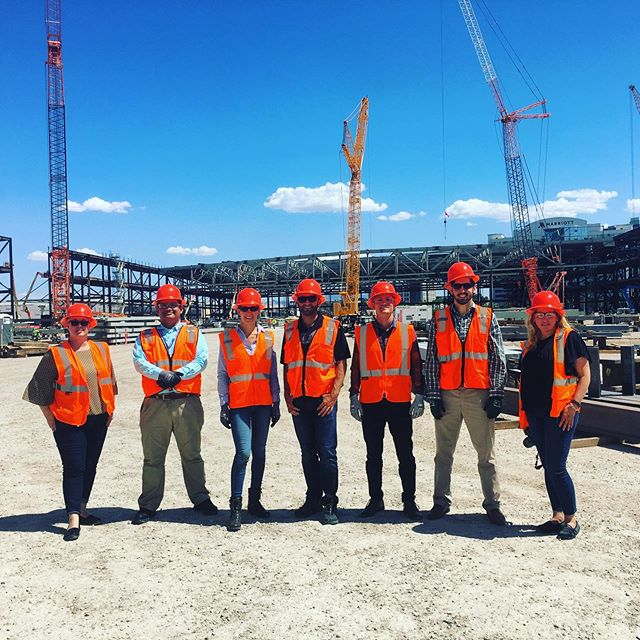 APWA Young Professionals of Southern Nevada attending a job site tour of the Las Vegas Convention Center District Phase 2 Expansion Project. We might be a small group but it's a mighty project with a construction cost nearing $1B! Thank you to the project team for your hospitality and time. #lvccd #apwa #jobsitetour #lasvegasconventioncenter #apwayp