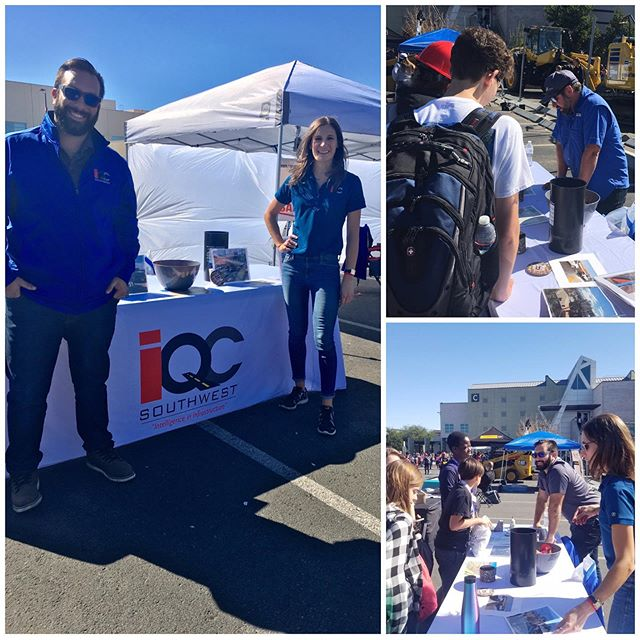 We spent our morning at @nevada_contractors_association Construction Career Day with other industry professionals educating students and teachers of different opportunities and career paths available. Many students were wowed listening to us talk about construction materials testing 🤩#constructioncareerdays #constructionmaterialstesting #qualityassurance #qualitycontrol #constructioniscool