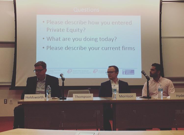 Mark Holdsworth, Matt Thompson (moderator, not pictured), Brian Morrison, Zeeshan Hyder