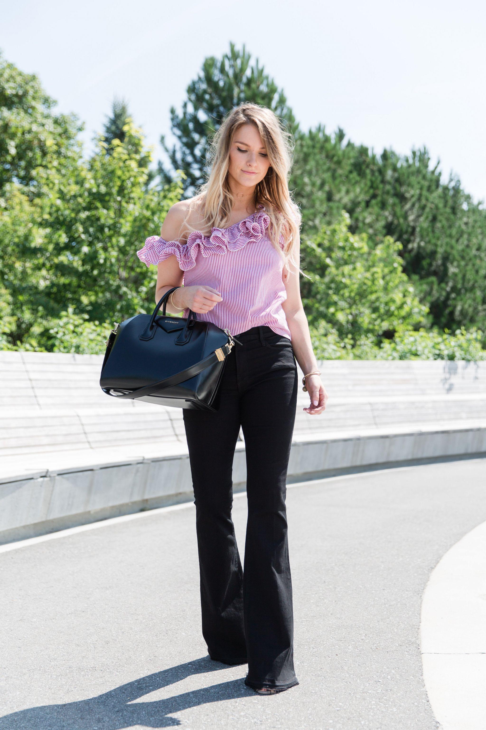 life-with-aco-one-sleeve-ruffle-top-frame-black-denim-flared-jeans-givenchy-antigona-engagement-ring-amanda.jpg