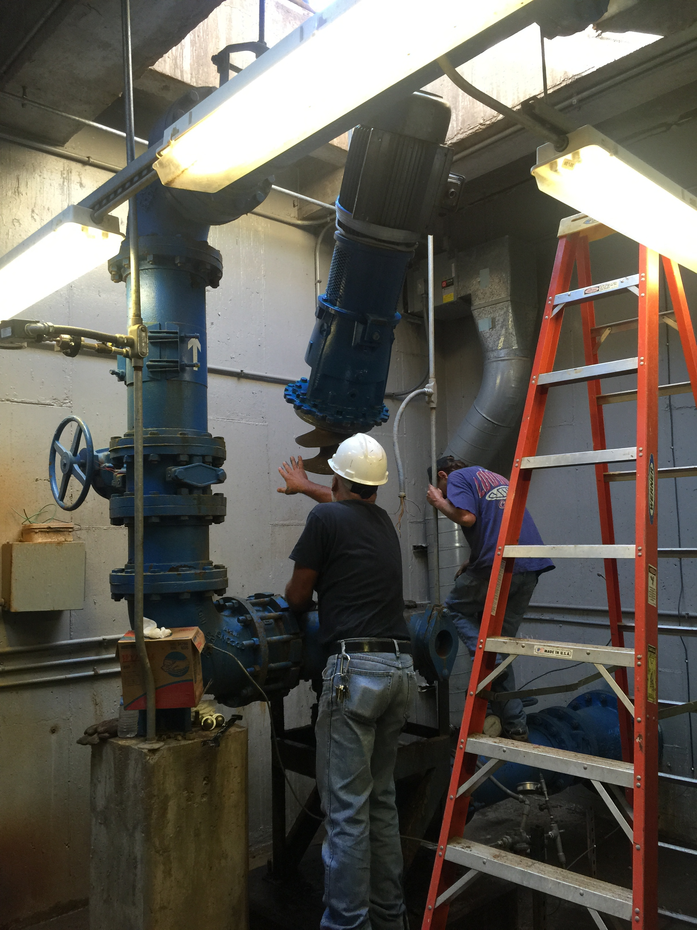 Repairing a pump system to improve water circulation in Forest Park
