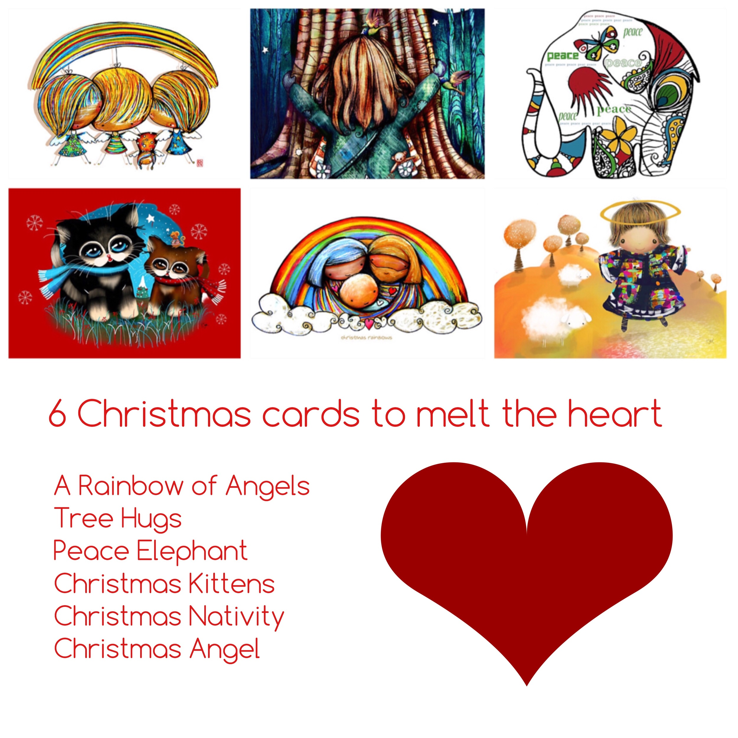 Christmas Card Collection by Karin Taylor shipping worldwide with customer satifaction guarantee.